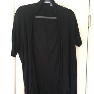 Autumn Cashmere XL Short Sleeved Black Cardigan